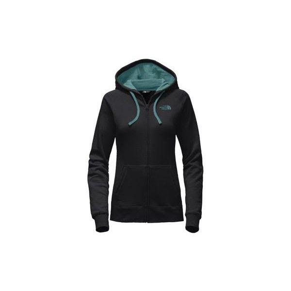 The North Face Women's Lfc Full Zip Hoodie Sweatshirt ($55) ❤ liked on Polyvore featuring tops, hoodies, black, the north face hoodie, full zip hooded sweatshirt, layered tops, the north face and full zip hoodies