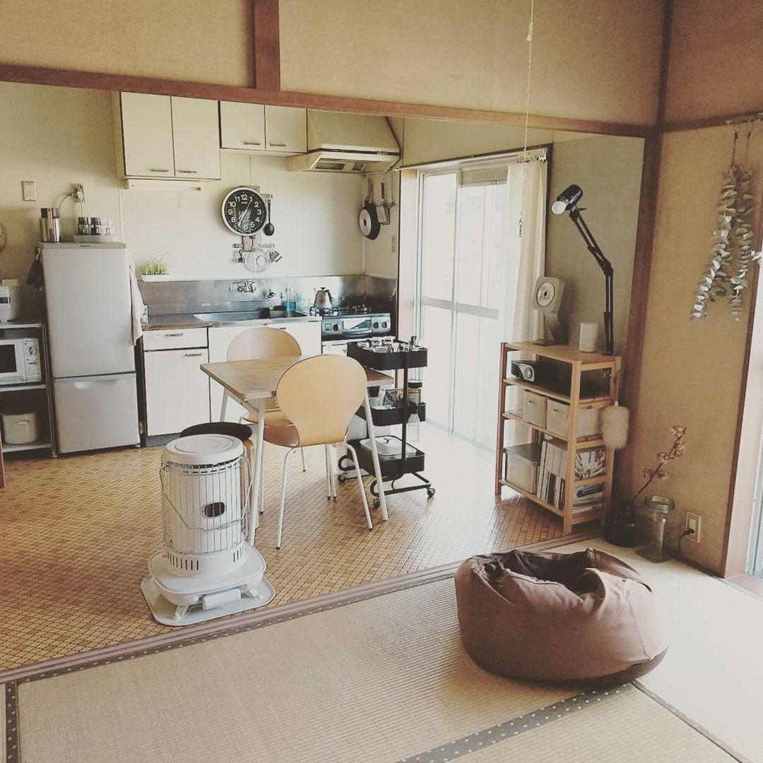 落ち着いたベージュのモロカンスタイルで くつろげるワンルームをつくる インテリア 家具 アパートのインテリア 畳 インテリア