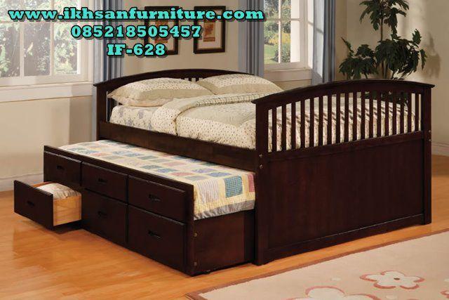 Tempat Tidur Sorong Murah Minimalis Terbaru If 628 Queen Trundle Bed Beds