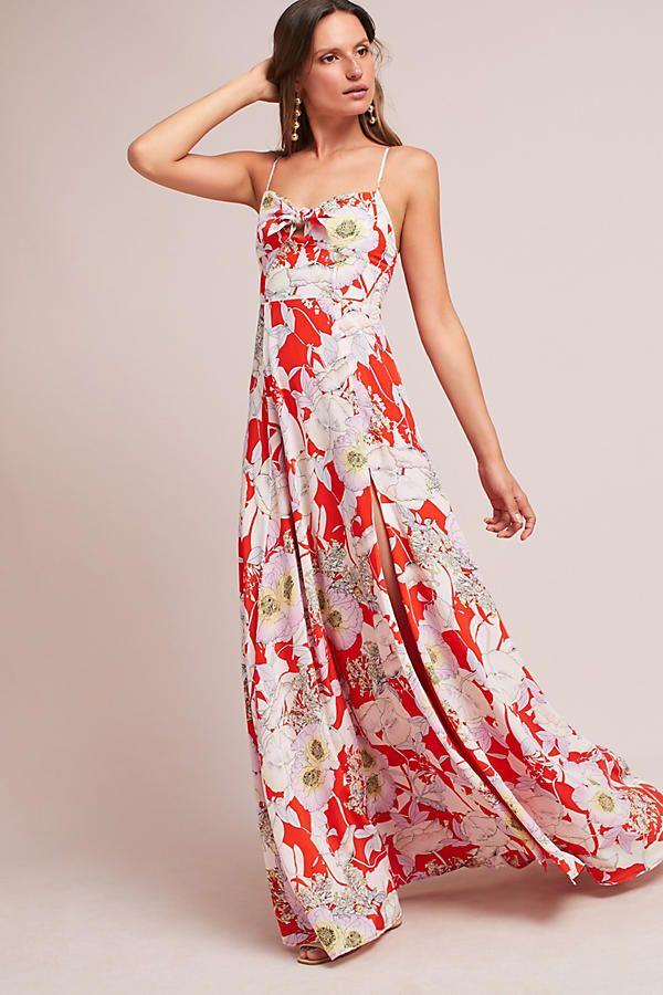 Rio Silk Maxi Dress