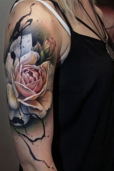 Most Attractive Watercolor Tattoos for Women [2020