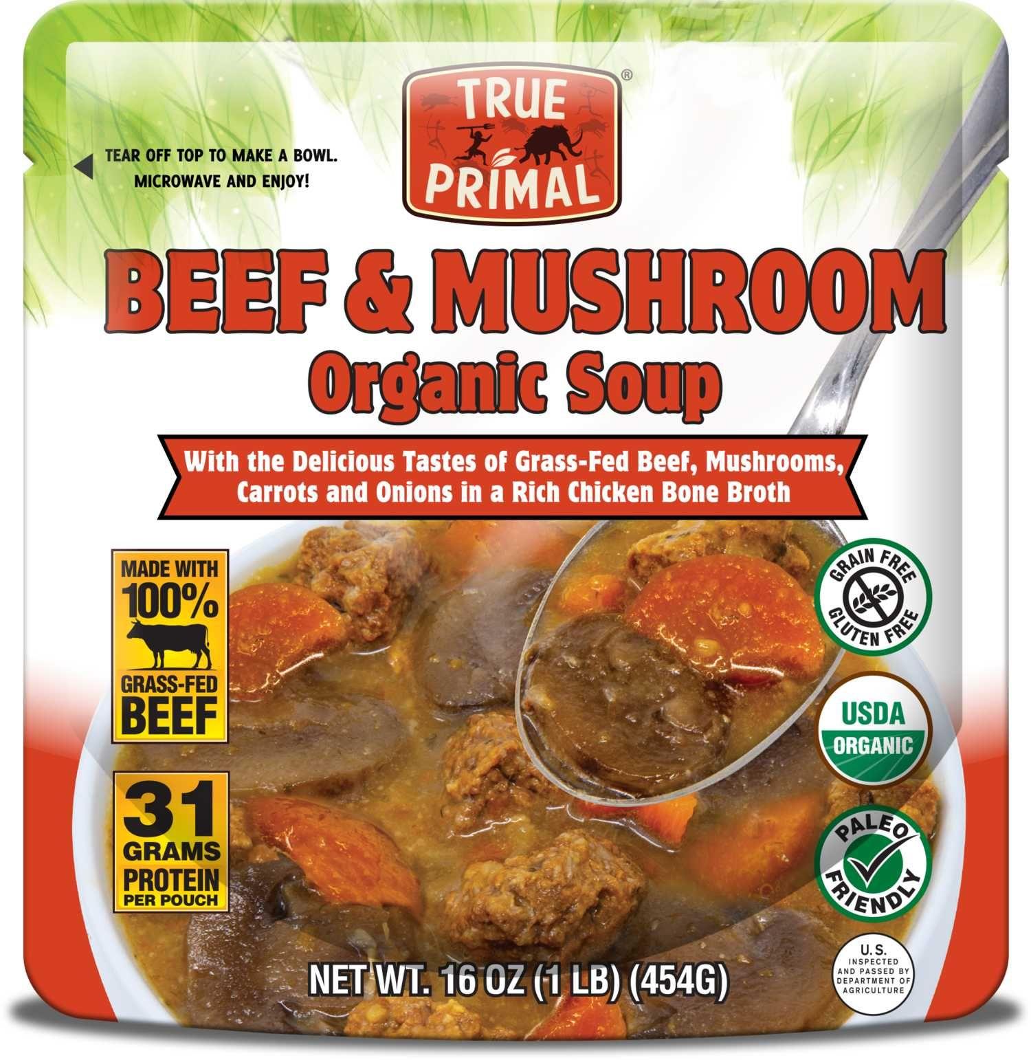 Beef & Mushroom Organic Soup Organic soup, Stuffed