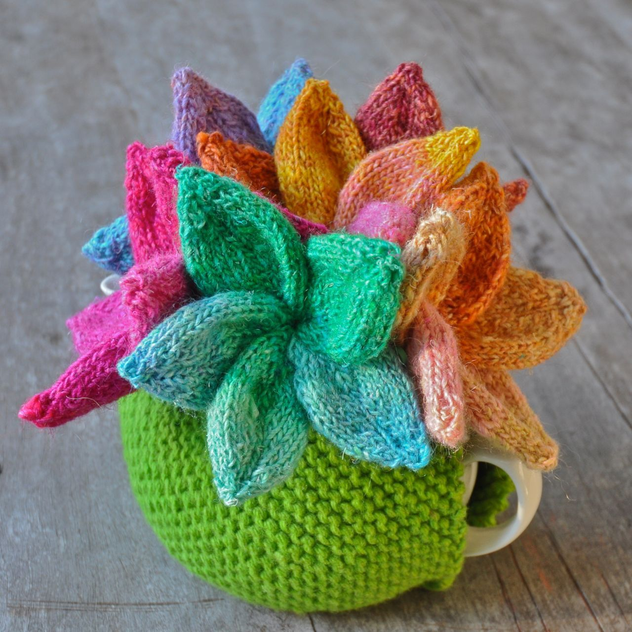 The Queen of the Tea Cosies - knitted but I could do similar in ...