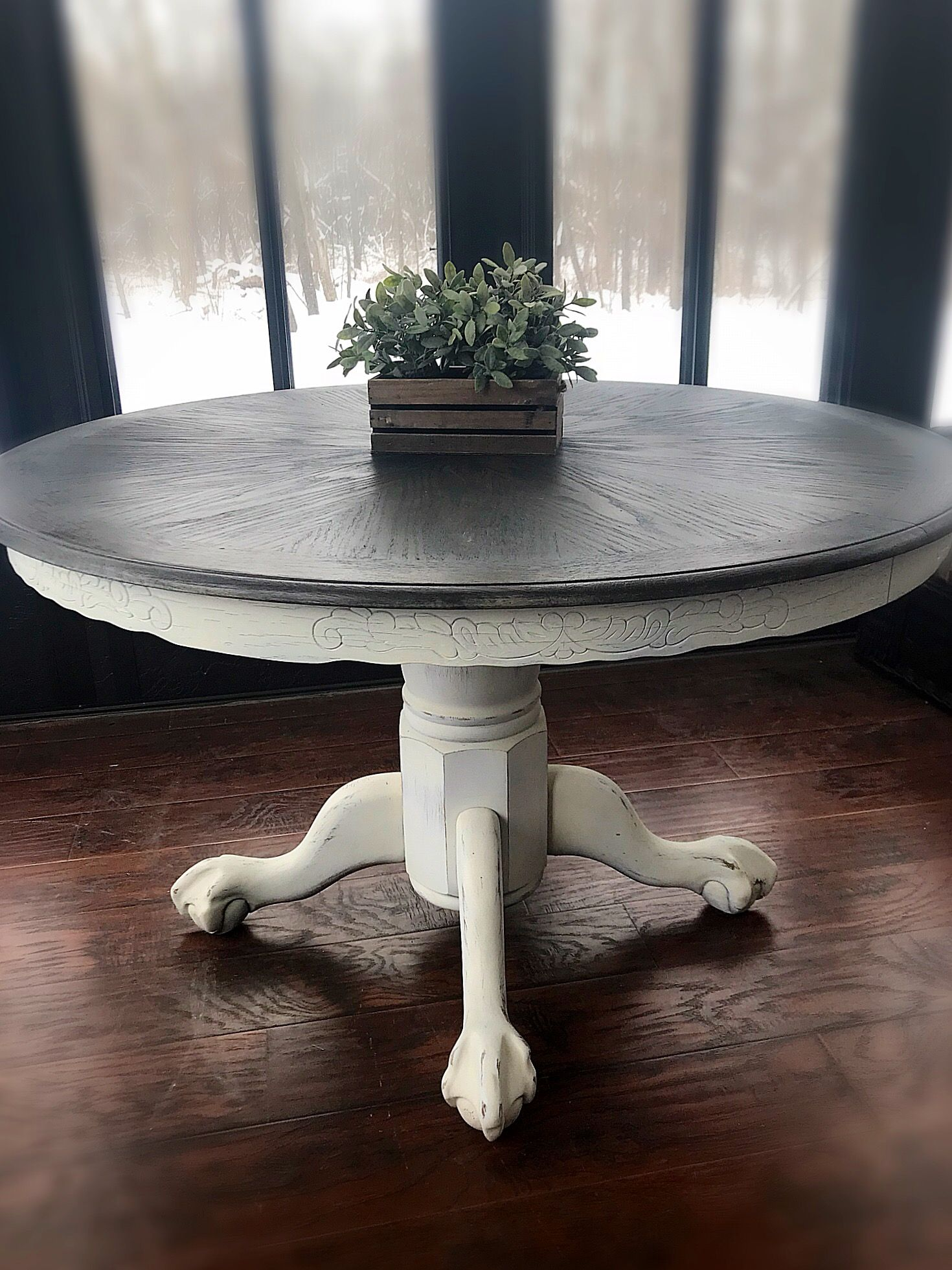 Vintage Wooden Accent Table Rustic Entryway Table Farmhouse