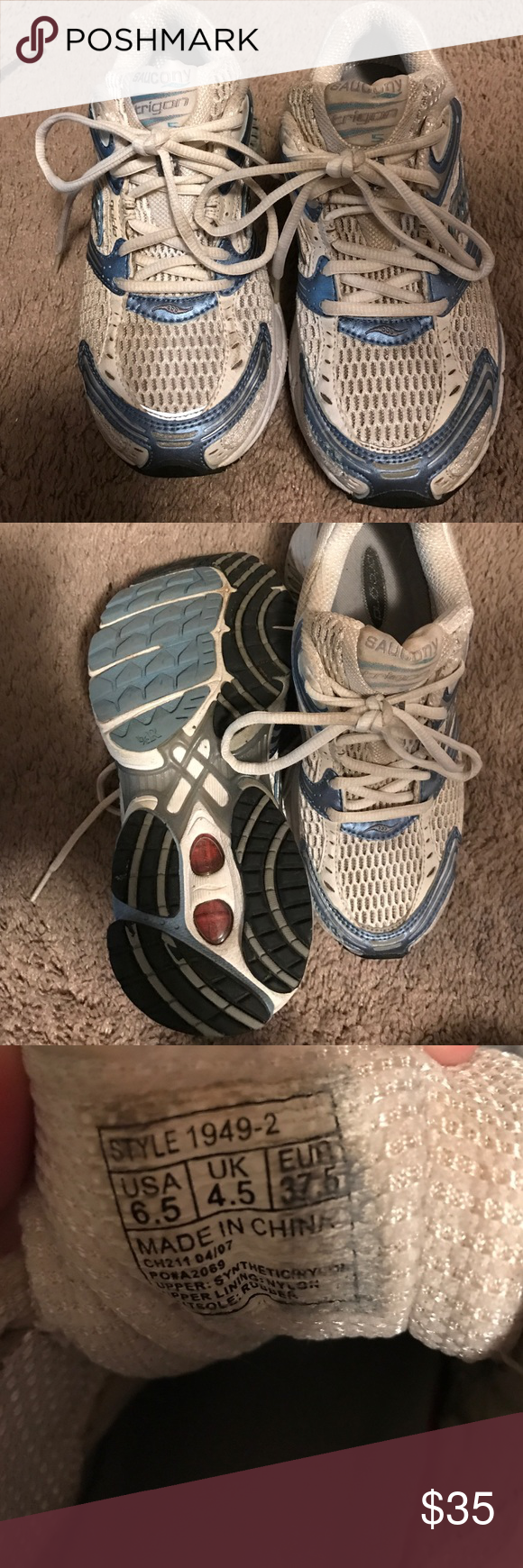 *10% Off* Saucony Running Sneakers Saucony Running Sneakers 👟Size 6.5. Loved shoes, no longer fit after pregnancy. Still have lots of love to them! Saucony Shoes Athletic Shoes