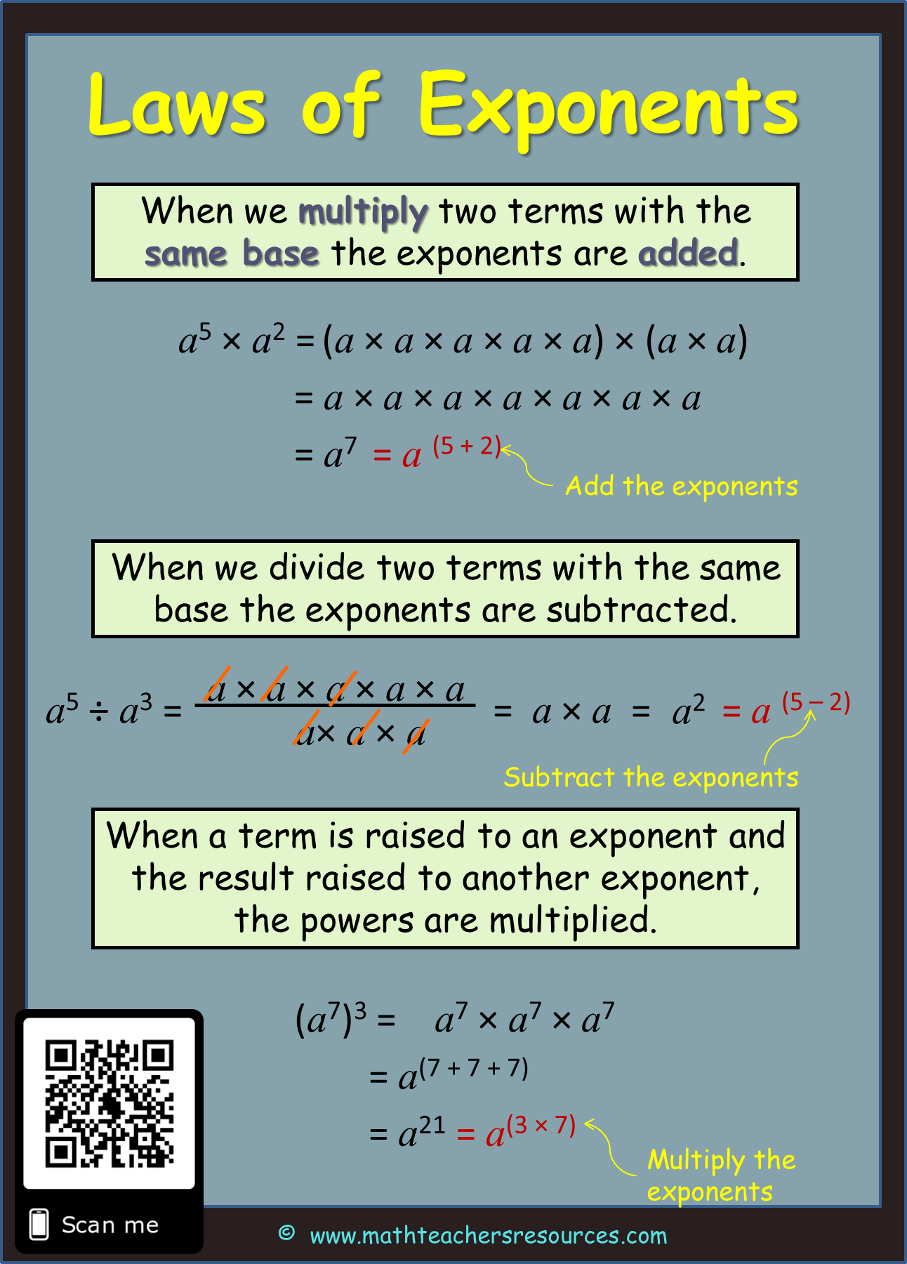hight resolution of Exponent Rules   Exponents