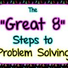 """These are posters outlining the eight steps I use with my students in math to tackle word problems.  I call them the """"Great 8.""""  The steps are as f..."""