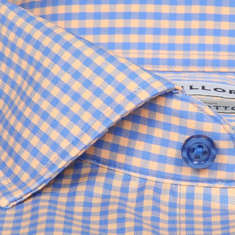 ENGLISH FINE  COTTON SHIRTING WHITE//PINK FREE P+P PIQUE CHECK DRESS FABRIC