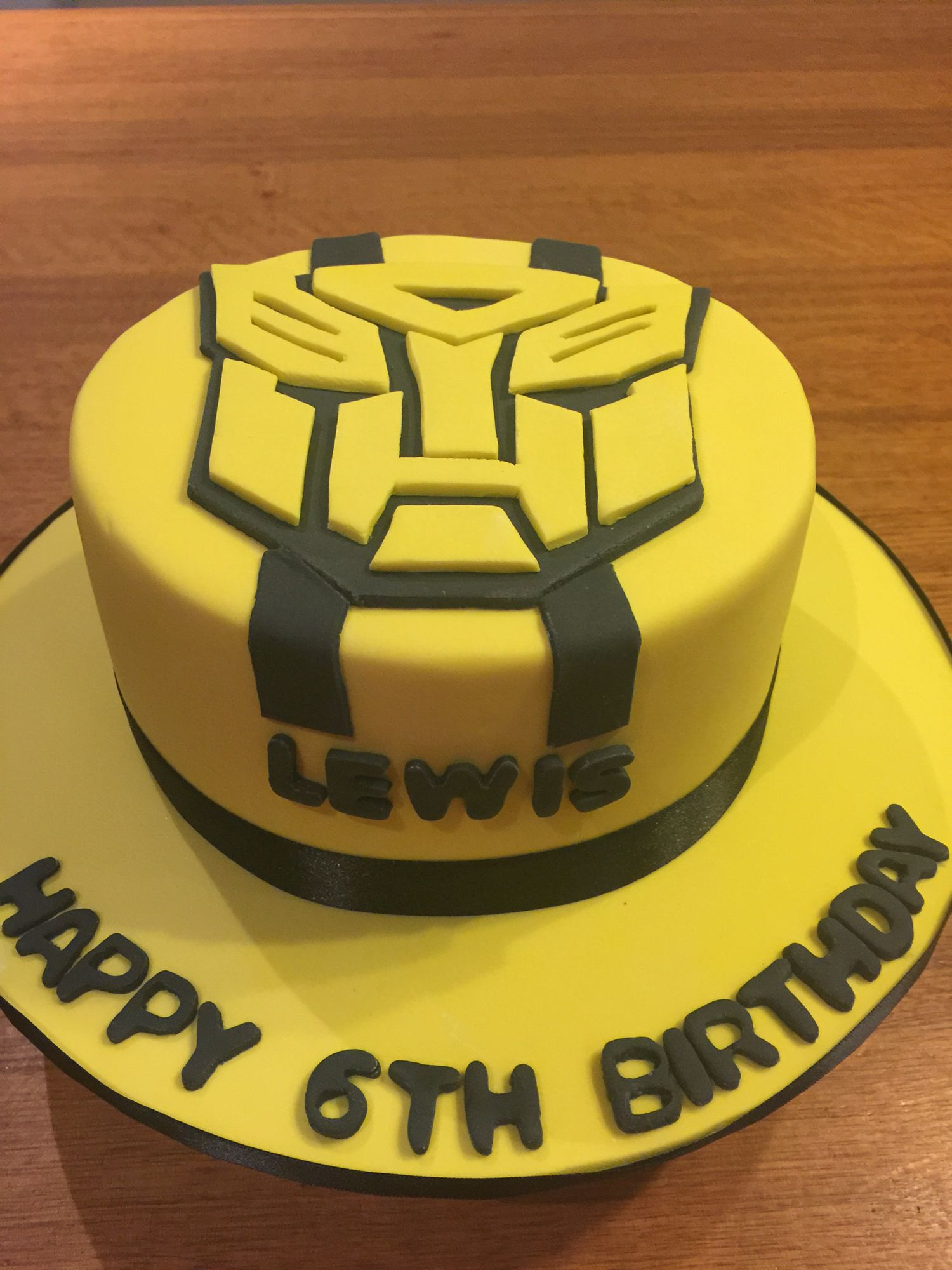 Transformer Bumble Bee Cake Transformers Birthday Cake