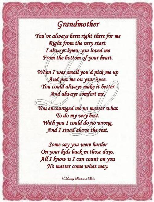 Poem for granny