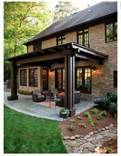 this not only the pergola but the paint color on Brick Pergola Designs id=93634