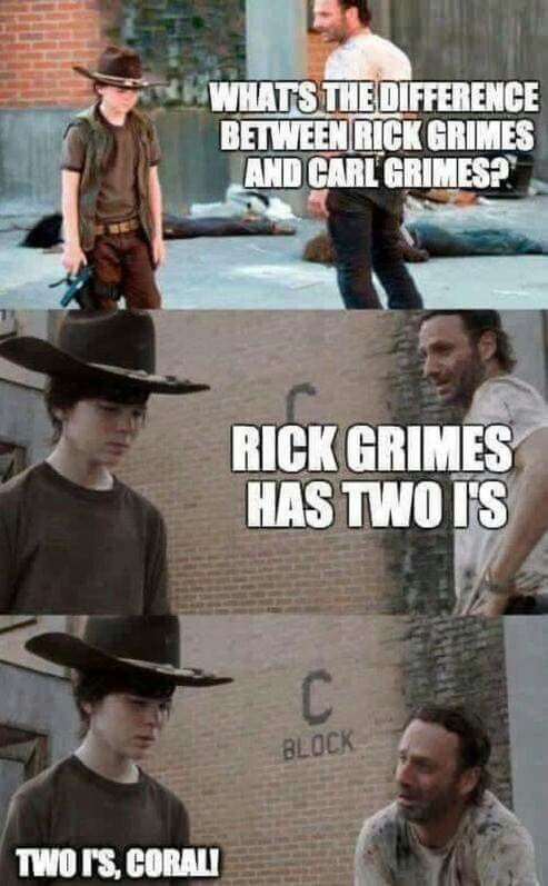 Two I S With Images Walking Dead Funny Walking Dead Memes