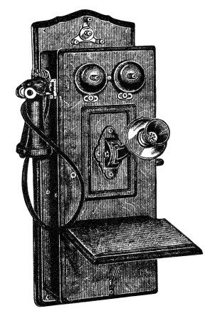 Antique Telephone Clip Art Black And White Clipart Old Phone Illustration Fashioned