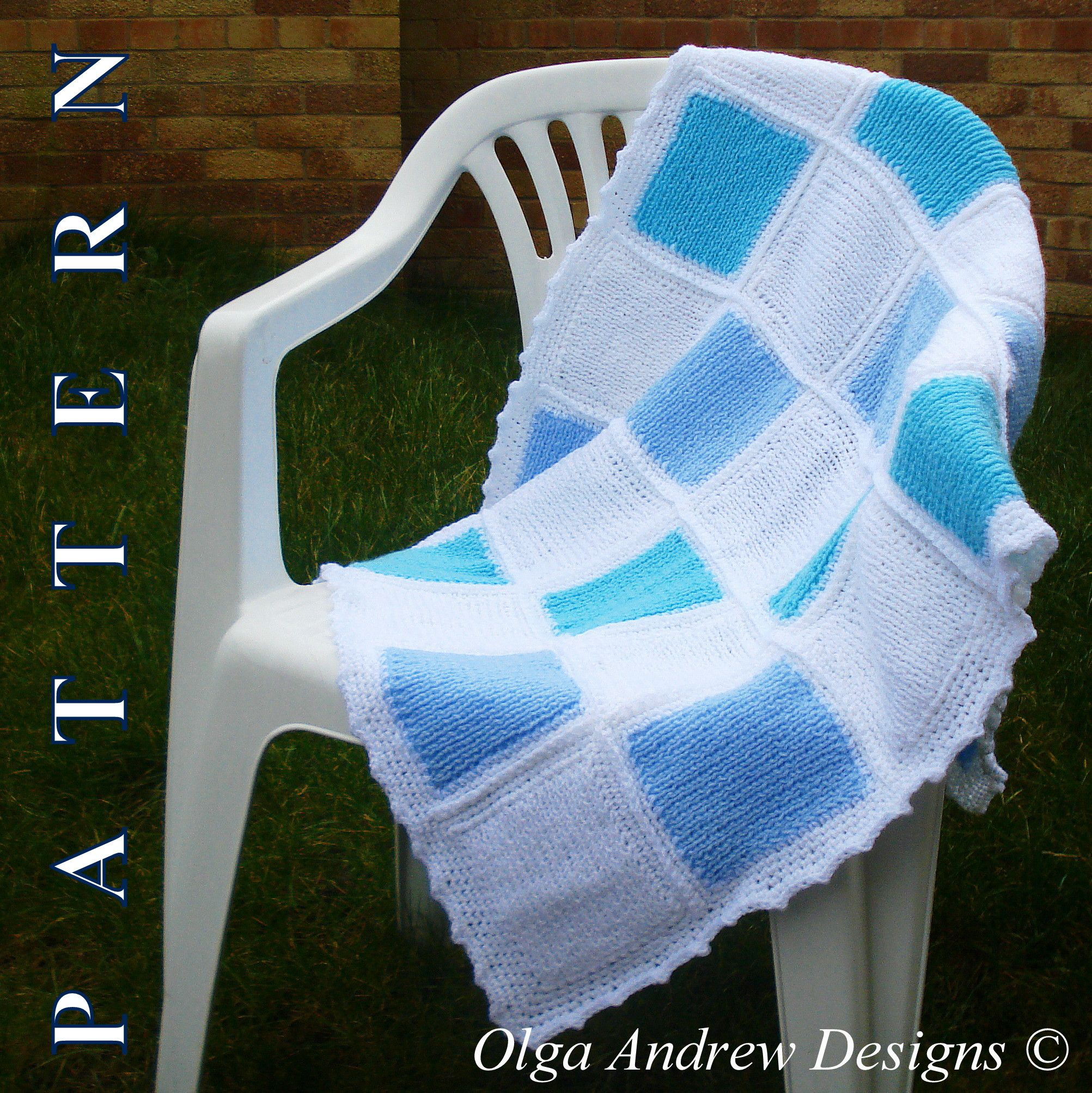 Patchwork baby blanket. Combined knitting and crochet tutorial ...