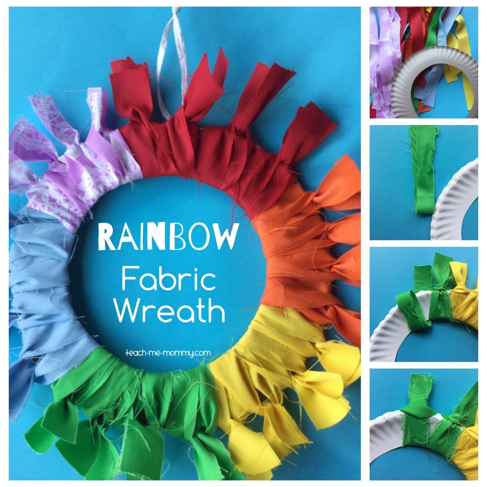 Photo of Rainbow Scrap Fabric Wreath – Teach Me Mommy