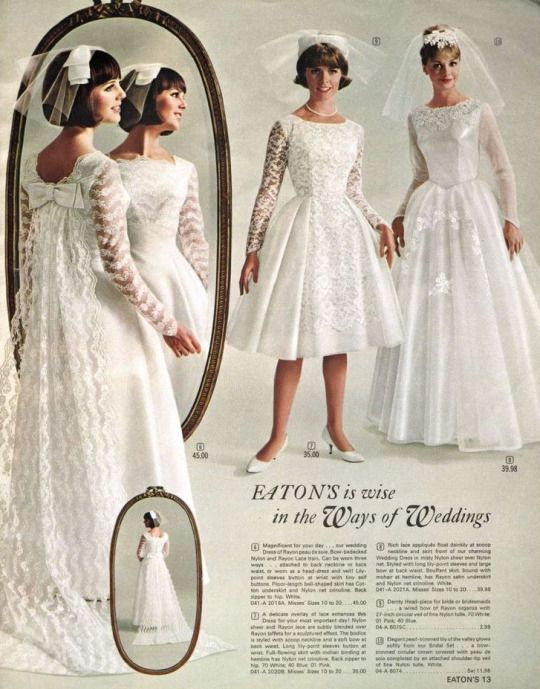6f1c9d76a30 Wedding dresses inside of Eaton s catalogue
