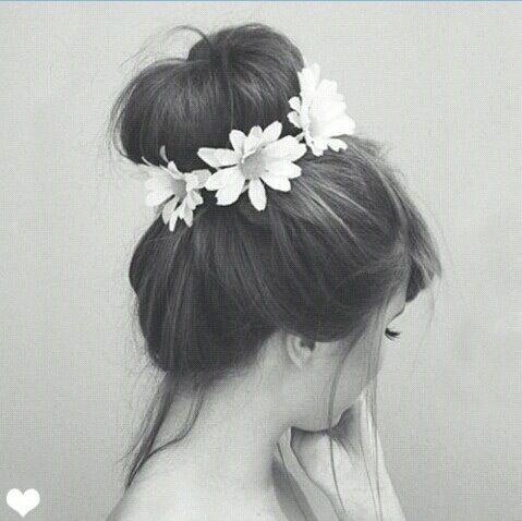 Hair, flowers