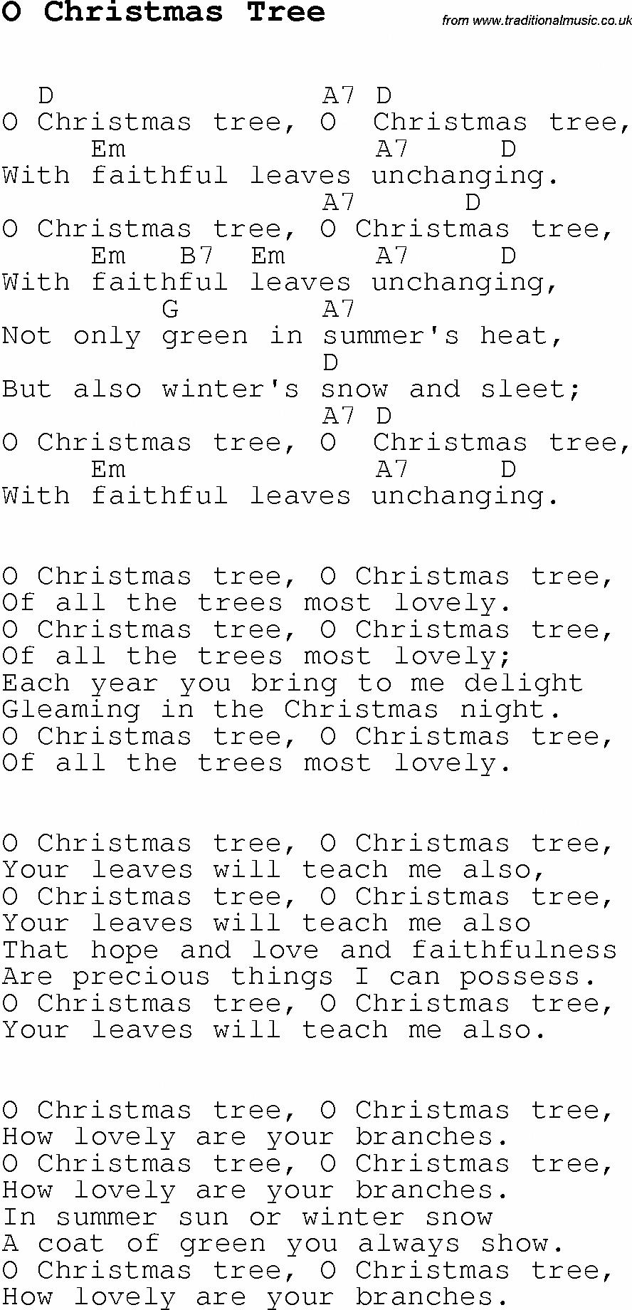 Christmas Songs And Carols Lyrics With Chords For Guitar Banjo For O Christmas Tree Learnukule Guitar Chords For Songs Ukulele Lesson Christmas Ukulele Songs