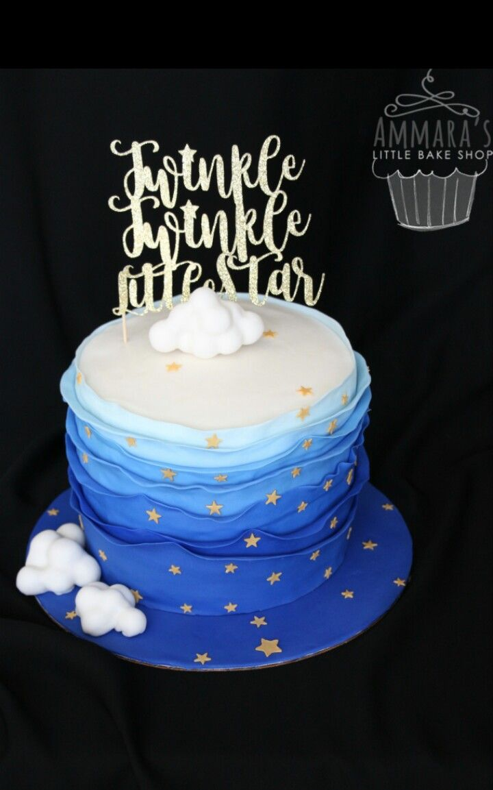 Twinkle Twinkle Little Star Cake With Images Baby Shower Cakes