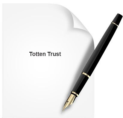 A totten trust allows an individual to put money into a bank - bank account forms