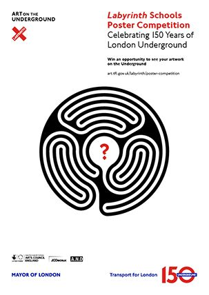 To celebrate 150 years of the #LondonUnderground, artist Mark Wallinger has created a major new project entitled Labyrinth – 270 individual artworks, one at each of the 270 stations on the network, and each bearing its own unique circular labyrinth.  TFL is running a schools' competition to produce an eye-catching poster inspired by Labyrinth. The winning posters will be produced with a professional designer and exhibited at Tube stations throughout the network in autumn 2013.