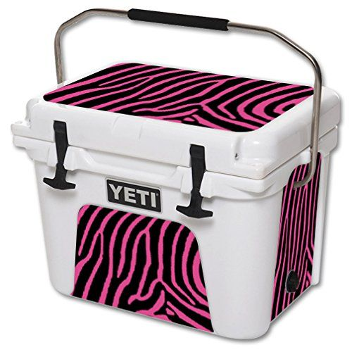 Mightyskins Protective Vinyl Skin Decal For Yeti Roadie 20 Qt Cooler Wrap Cover Sticker Skins Zebra Pink Want Additional Yeti Roadie Cool Wraps Yeti Cooler