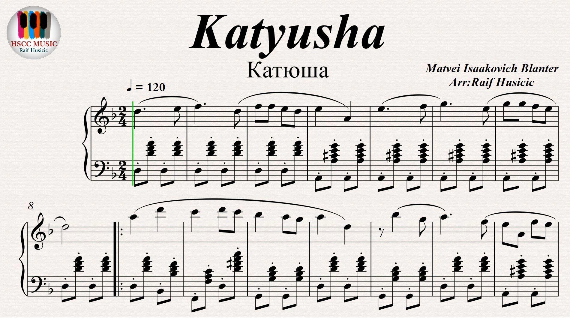 Katyusha (Катюша), Piano | my fave songs in 2019 | Piano