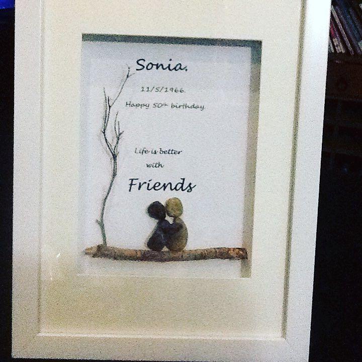 Friendship 50th birthday present . #treasuredpebbles #family ...