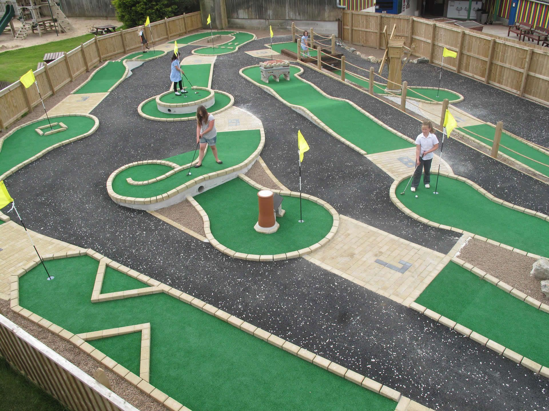 Crazy Golf Google Search Miniature Golf Course Miniature Golf Mini Golf Course Backyard mini golf kit