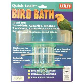 Lixit Pet Quick Lock Bird Bath Is An All Plastic Heavy