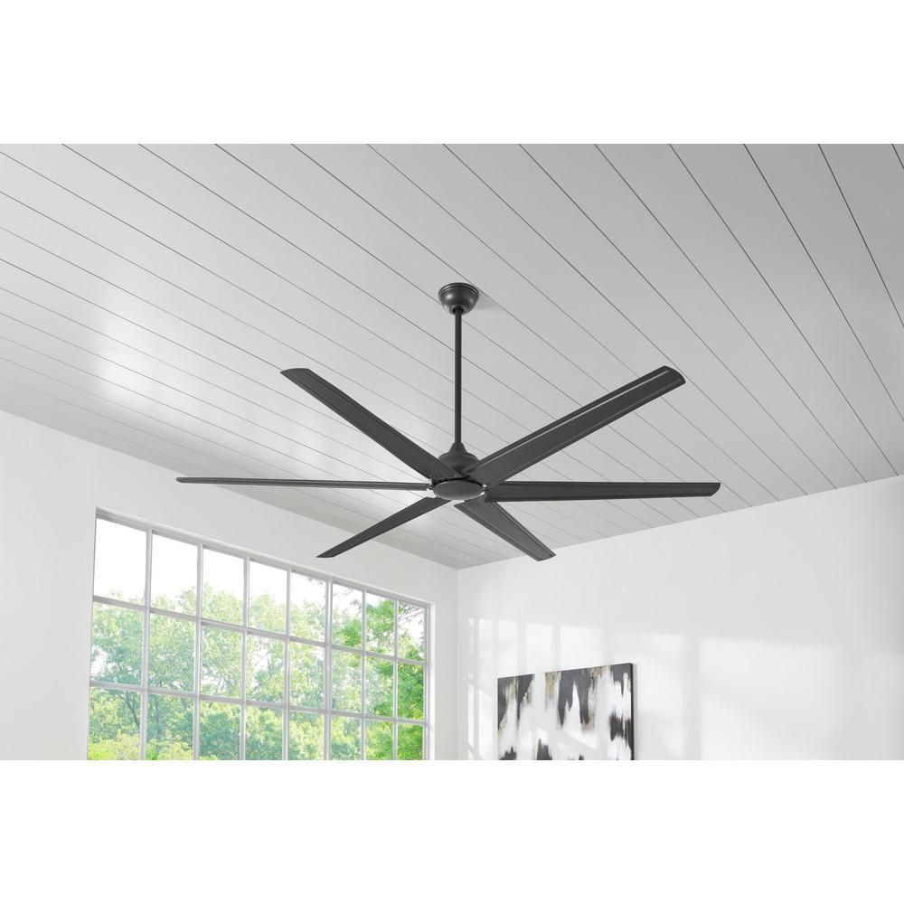 Hampton Bay Industrial 60 In Indoor Brushed Steel Ceiling Fan With Wall Control Ceiling Fan Brushed Steel Garage Ceiling Fan
