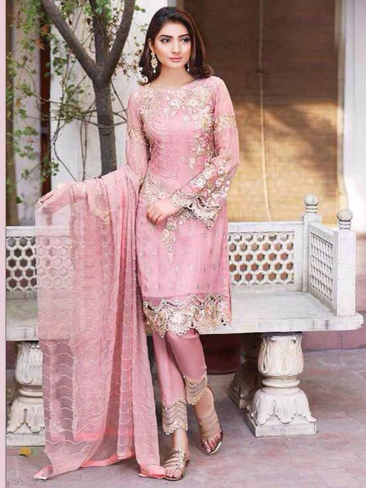 58d88f58e indian ethnic bollywood suit new designer party wear look. new fancy look  designer heavy work embroidery pure georgette fabric | eBay