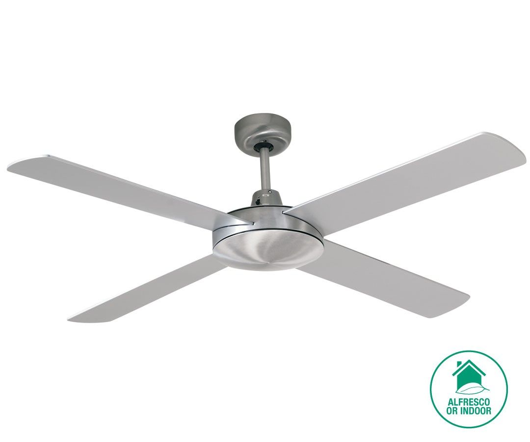 Alfresco Futura 132cm Fan In Brushed Chrome With Silver