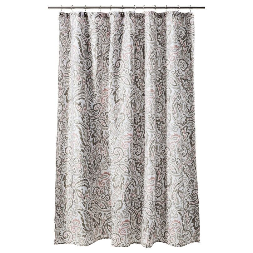 Threshold™ Paisley Shower Curtain - Gray/Coral   Bathroom ...