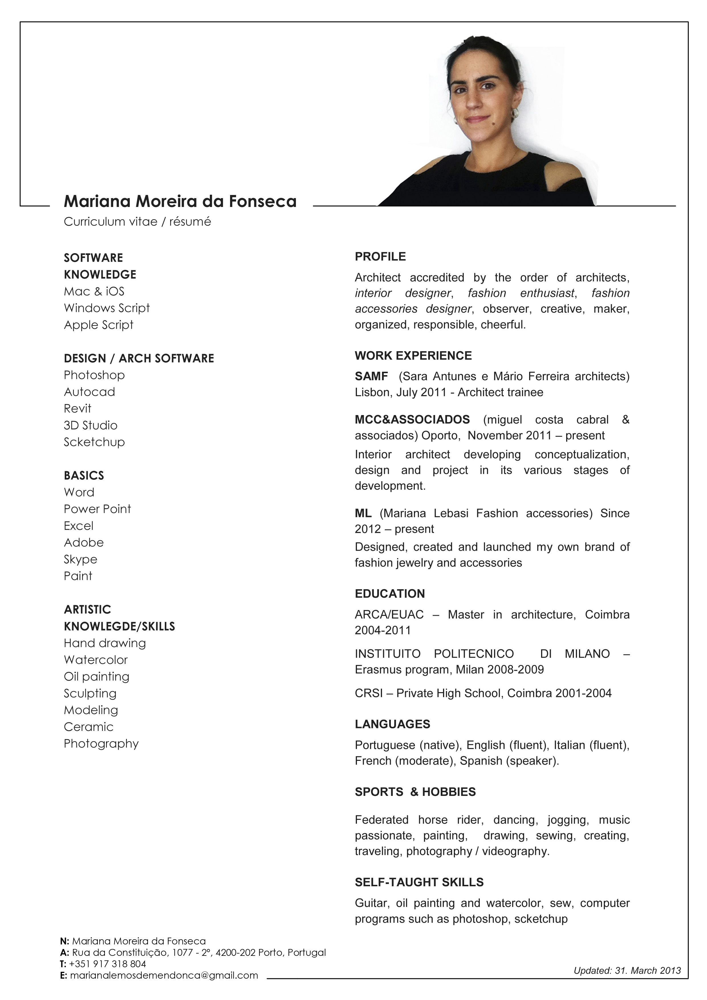 Pin By Firstjob Com On Work Resume Template Free Resume Profile Curriculum Vitae Resume