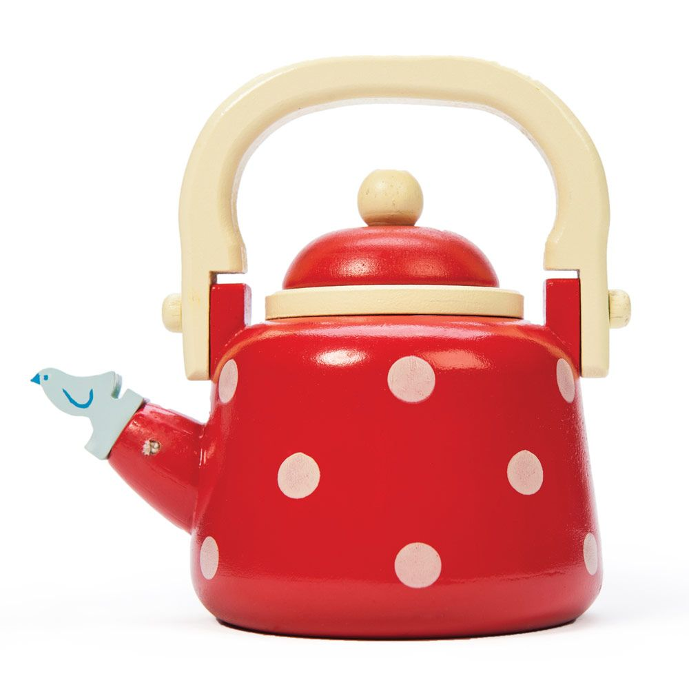 Dotty Toy Kettle Wooden Toys Toys Toy Kitchen Accessories Toy Kitchen Childrens Wooden Kitchen