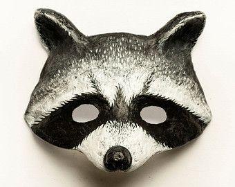 Raccoon Mask Animal Mask Carnival Masquerade Woodland Fancy