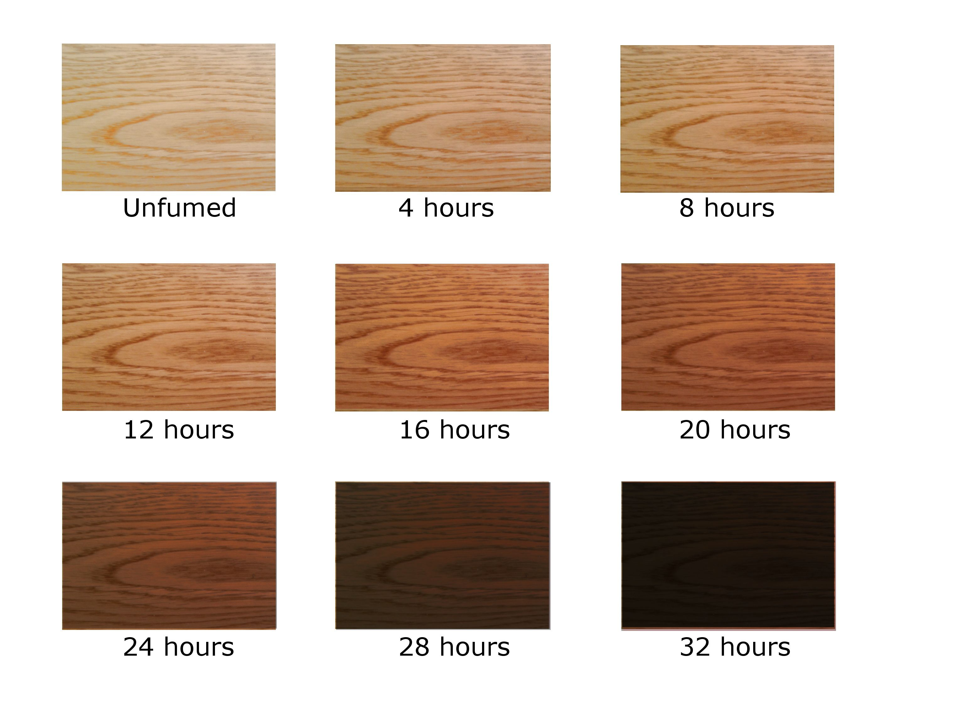 Ammonia Fumed Oak The Longer It Is Fumed The Darker The