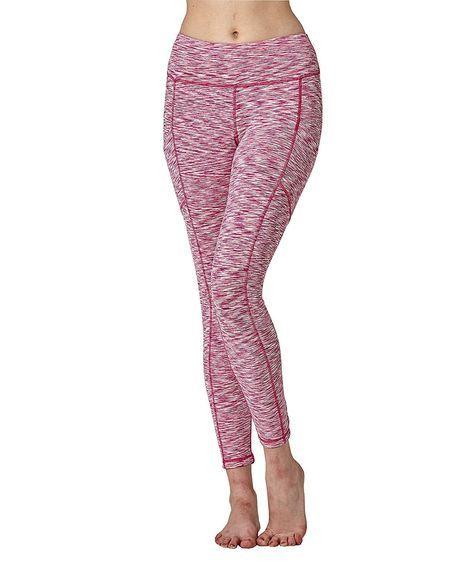 Women's Yoga Fitness Leggings Gym Workout Capri Pants - Pink - CO1868LZ85C - Sports & Fitness Clothi...