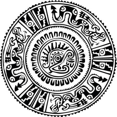 Simbolos Mayas Modelo Antiguo Ilustracion Vectorial Simbolos Mayas Simbolos Aztecas Aztecas Dibujos