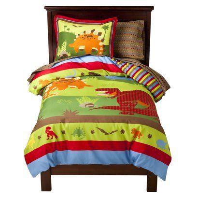 Dinosaurs Bed Quilt Bedding Set Full Double Size Dinosaur