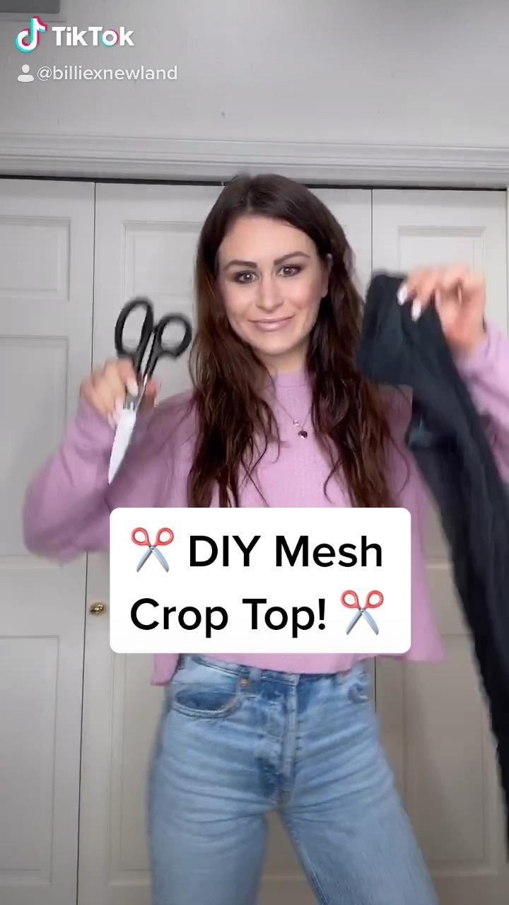 DIY mesh crop top -   17 DIY Clothes Easy no sew ideas