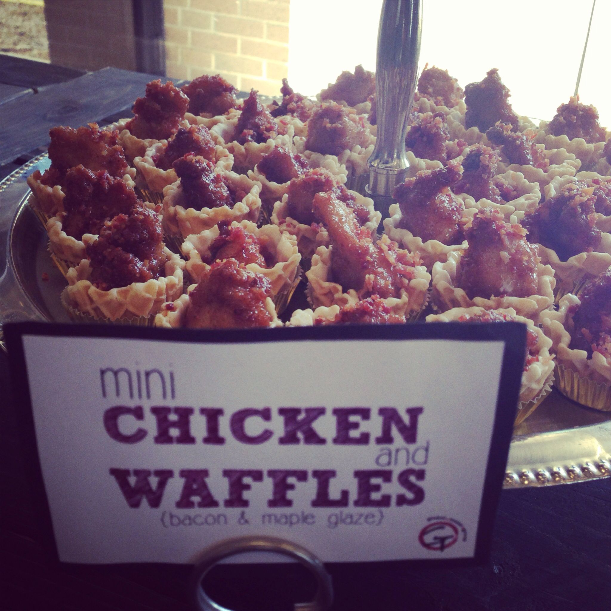Soul Food Buffet Menu Wedding: Mini Chicken And Waffles With Bacon And Maple Glaze