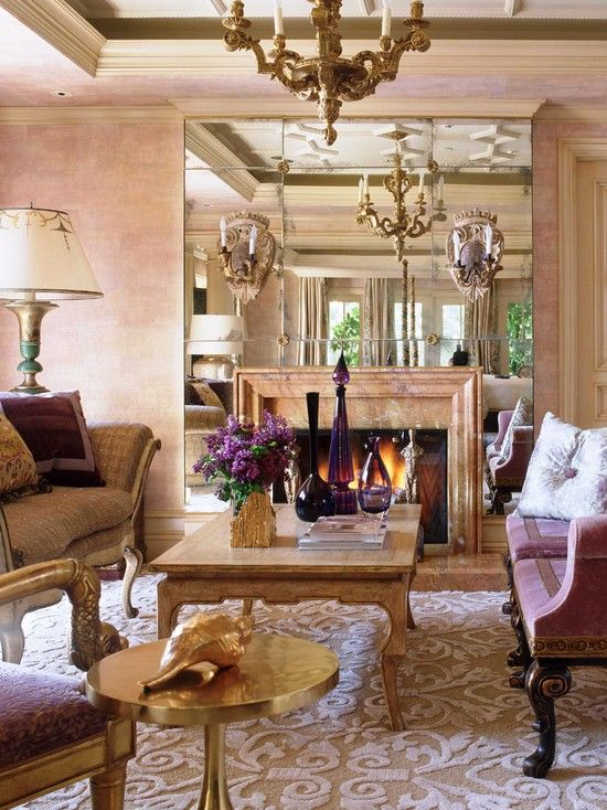 Wendy Young Design | Stunning Mirrored Fireplace