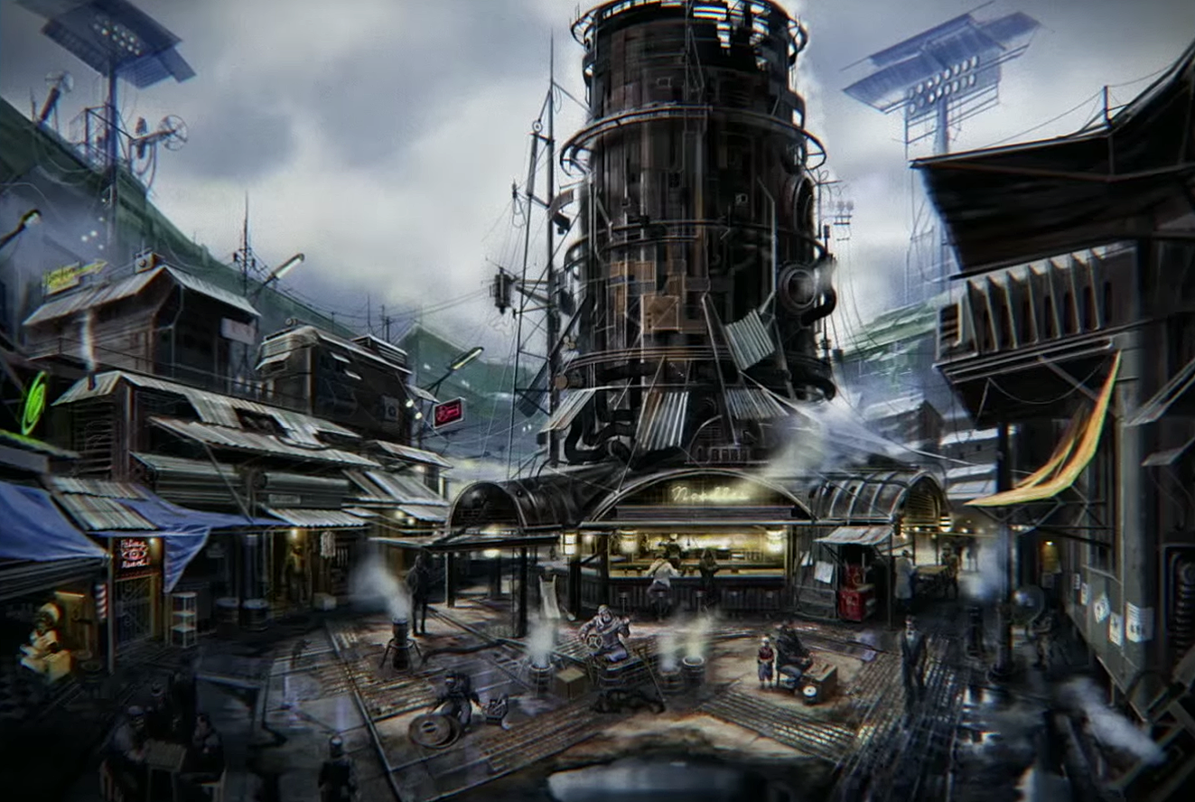 Fallout 4 - Diamond City concept art | Fallout 4 Concept Art