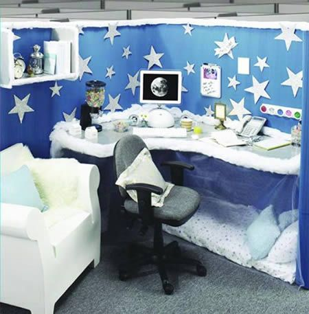 12 Coolest Pimped Cubicles Oddee Com Decorated Cubicle