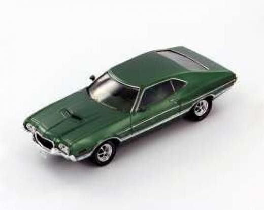 Ford Gran Torino Sport 1972 Green Car Models Die Cast