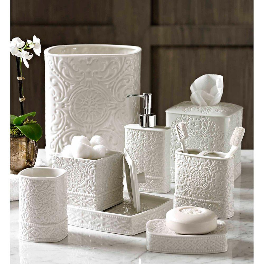Bathroom Sets Overstock in 8  White bathroom accessories, Bath