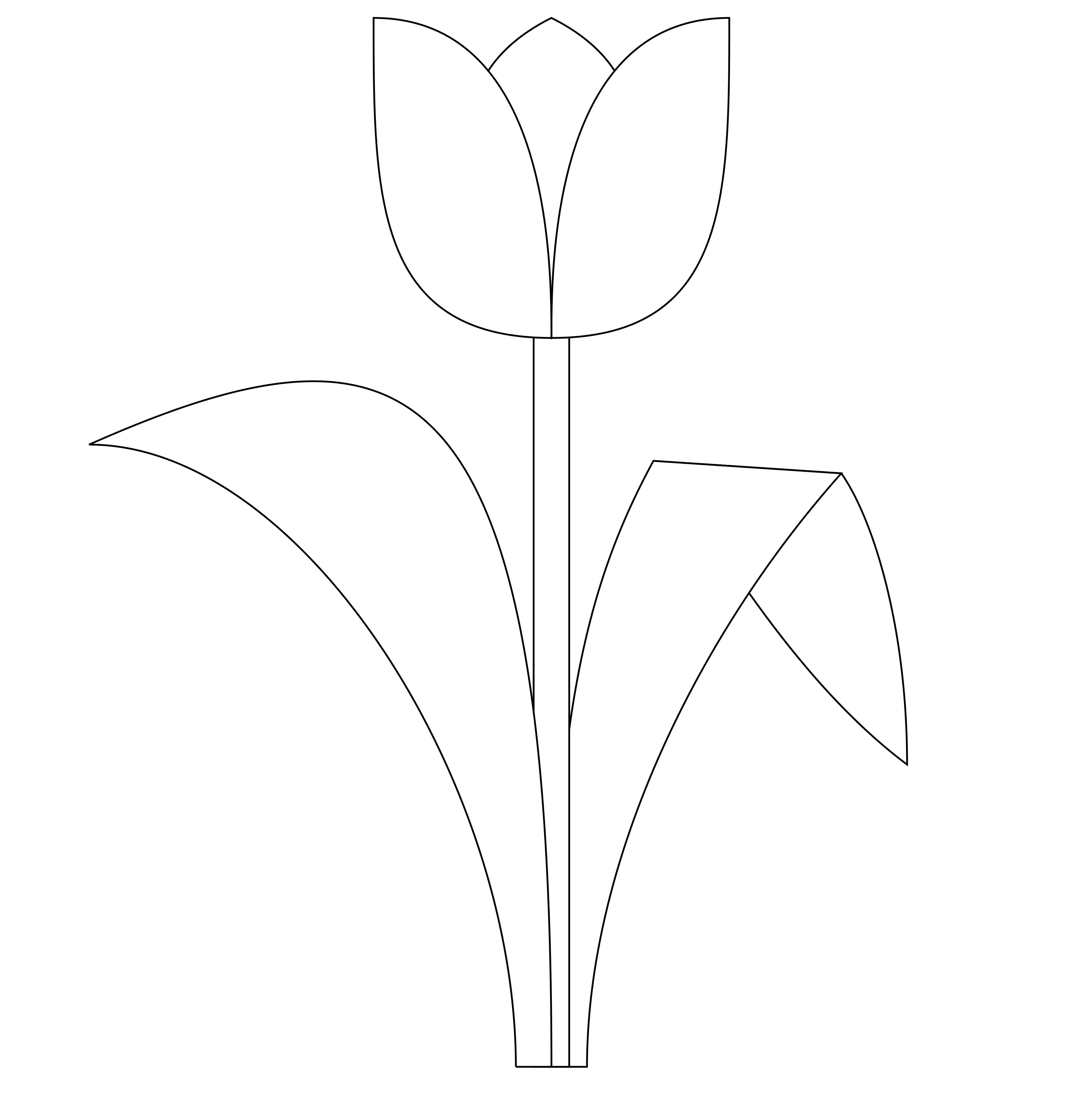 tulip template printable tulip template for kids - 101 ...