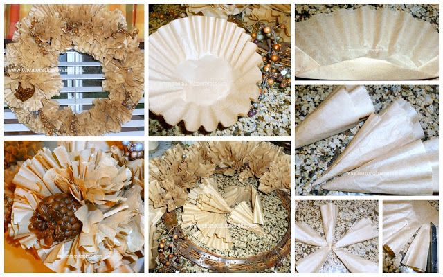 One More Time Events...: Quick and Easy Table Decoration Using Coffee Filters